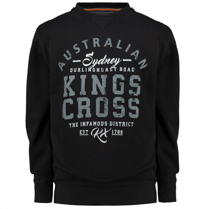"Sweatshirt mit ""Australian Kings Cross""-Print schwarz_15 | 3XL"