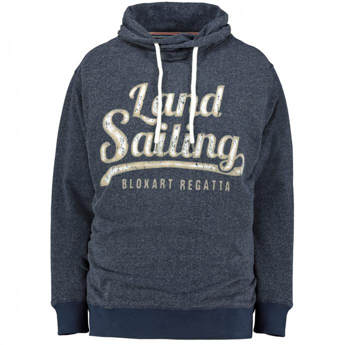 """Sweatshirt mit """"Land Sailing""""-Print und Schalkragen graublau_547/39   3XL"""