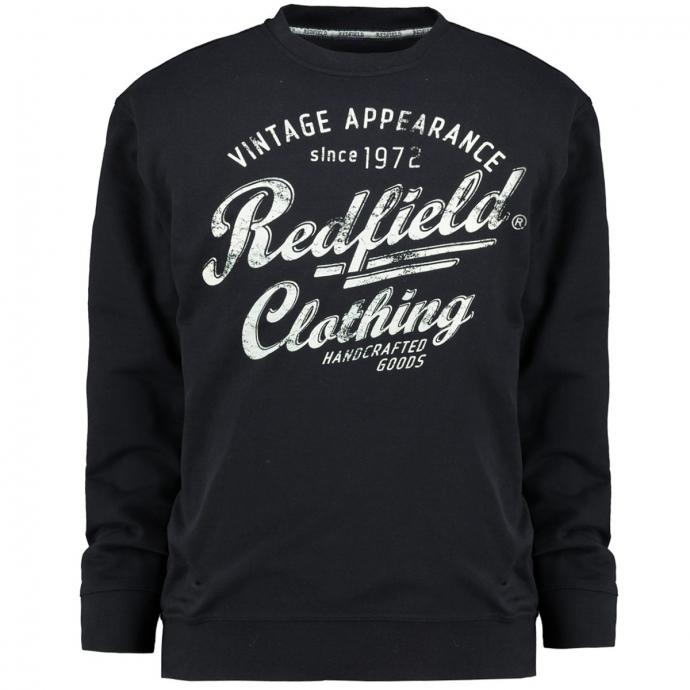 "Sweatshirt mit ""Redfield Clothing""-Print dunkelblau_01 | 4XL"