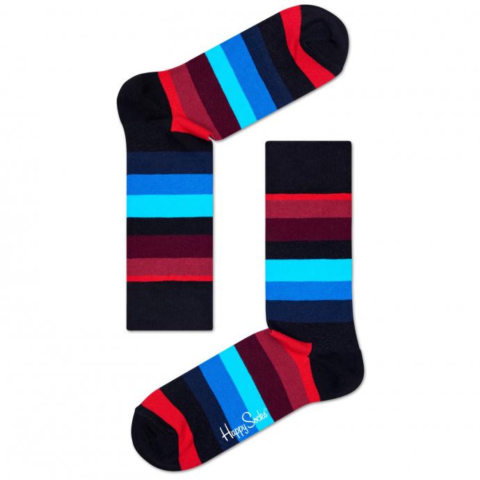 Socke Stripe blau/rot_068 | 41-46