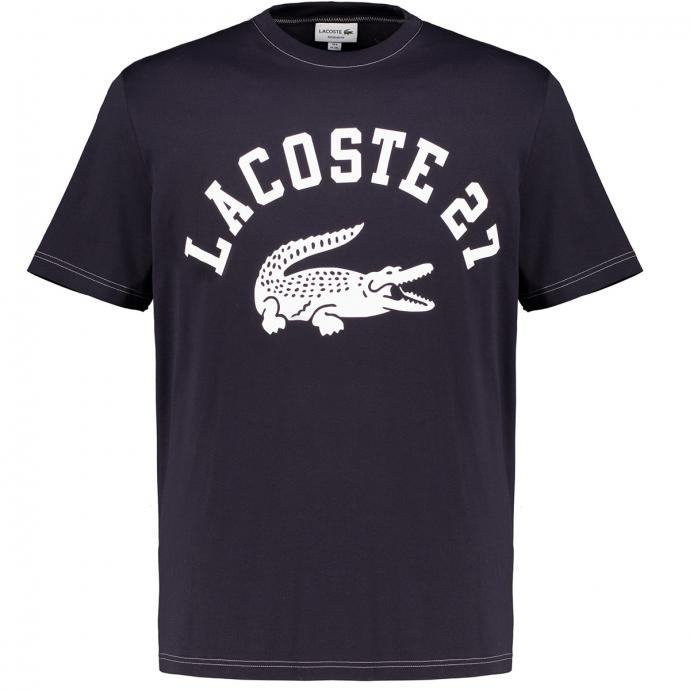 T-Shirt mit Lacoste-Print dunkelblau_HDE | 3XL