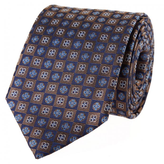 Krawatte attraktiv gemustert beige_4 | One Size