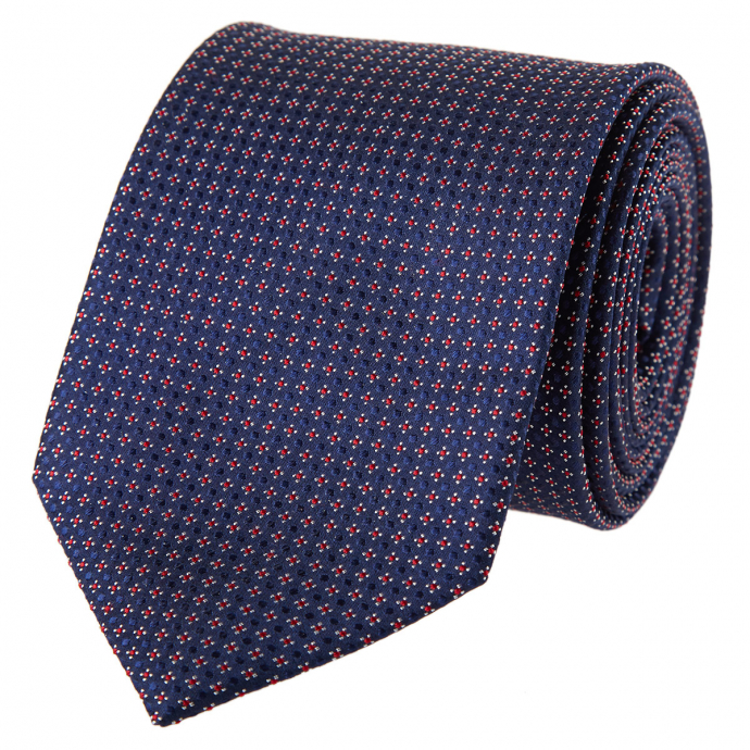 Krawatte in feinem Mustermix dunkelblau_1/400 | One Size