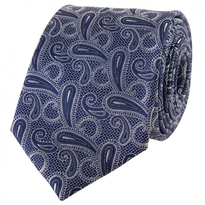 Krawatte mit edlem Paisleymuster blau_1 | One Size