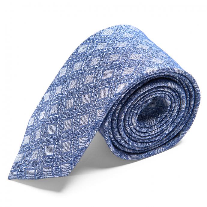 Krawatte aus Seide mit modernen Webmuster blau_4/40 | One Size