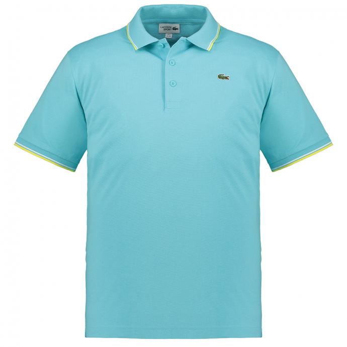 Sportliches Poloshirt mit farblichen Akzenten, kurzarm türkis_SRL | 3XL