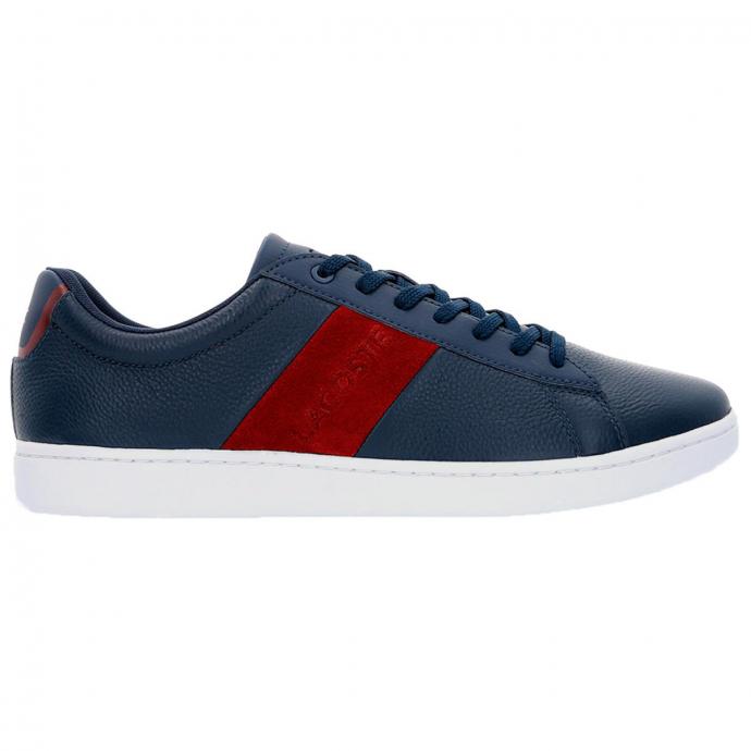 Sneaker aus Leder mit Veloureinsätzen dunkelblau_5A5   48