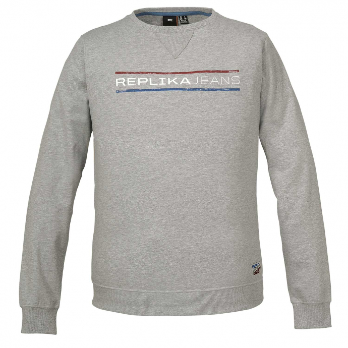 """Replika Jeans"" Logo-Sweatshirt hellgrau_050 | 6XL"