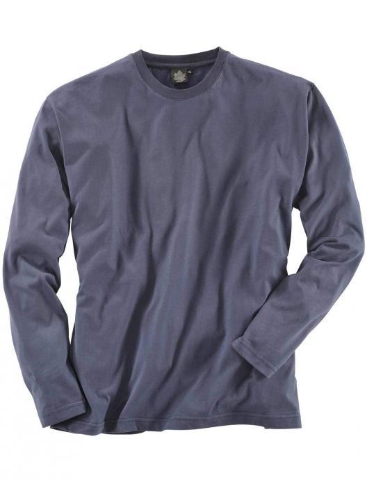 Basic Langarm-Shirt blau_544 | 3XL