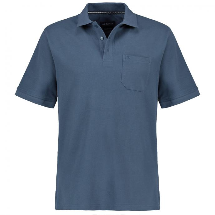 Klassisches Poloshirt,  kurzarm graublau_125   3XL