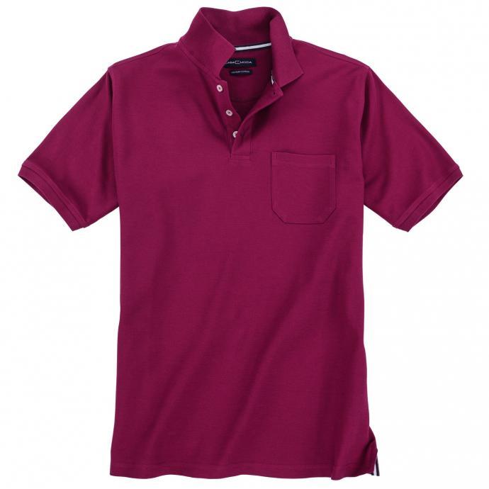 Klassisches Poloshirt,  kurzarm beere_969   4XL