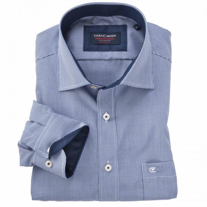 Kariertes Cityhemd jeansblau_101   XXL
