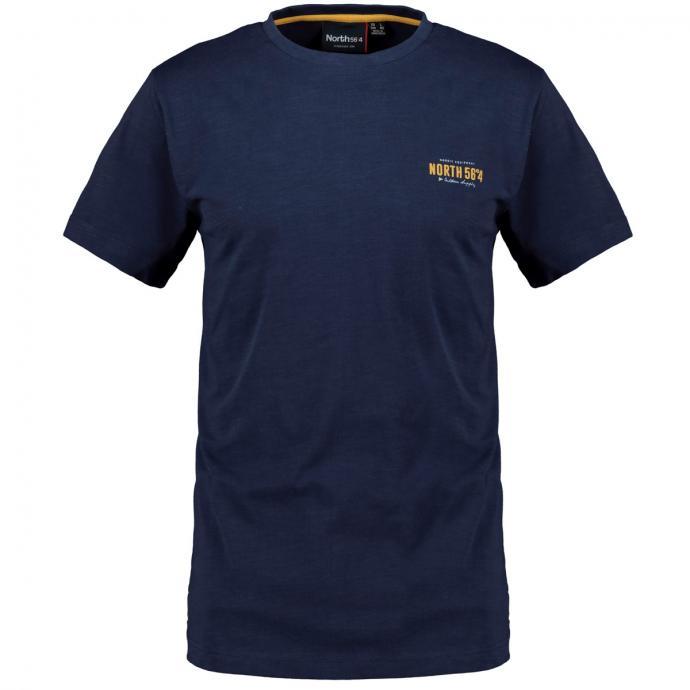 Sportives T-Shirt mit Logo Print dunkelblau_580 | 3XL