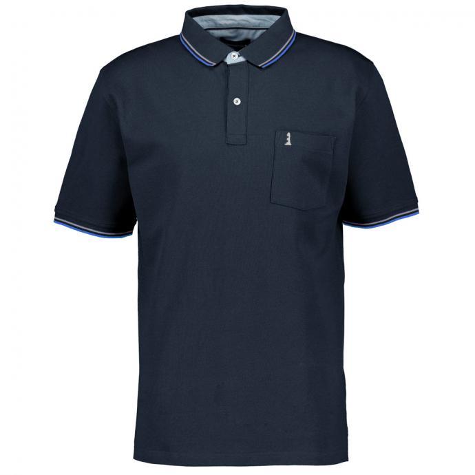 Sportives Poloshirt mit dezenter Stickerei dunkelblau_580 | 3XL