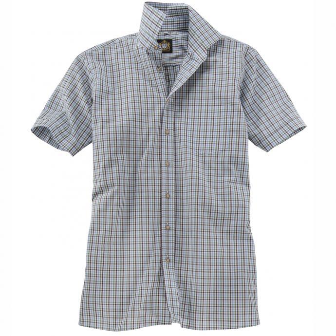 Kariertes Trachtenhemd kurzarm blau/grün_GRÜN/BLAU   4XL