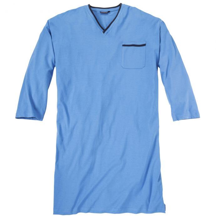 Nachthemd mit langem Arm hellblau_320 | 3XL