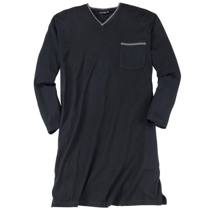 Nachthemd mit langem Arm schwarz_700 | 3XL