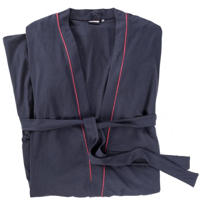 Hausmantel aus leichtem Jersey dunkelblau_360 | 3XL