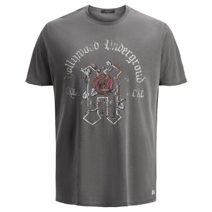 "T-Shirt mit großem ""Hollywood""-Print schwarz_BLACK   6XL"