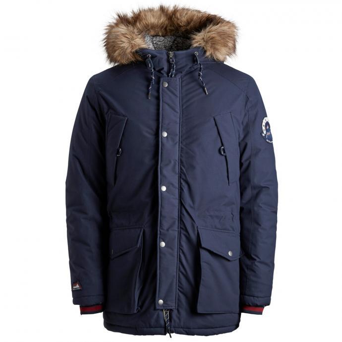 Warme Funktionsjacke mit vielen Taschen blau_NAVYBLAZER   3XL