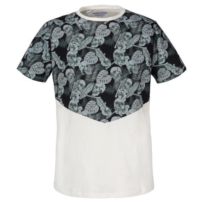 T-Shirt mit Totenkopf-Print beige_CLOUD | 3XL
