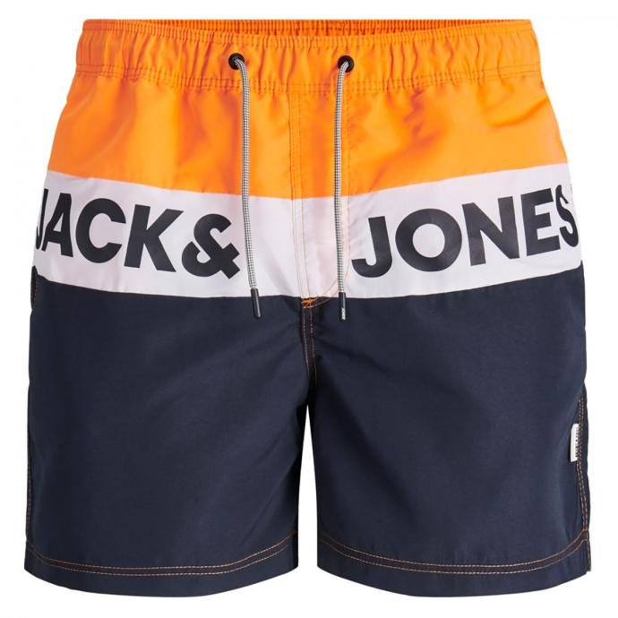 Lässige Badeshort mit Jack&Jones Print orange_FLAME | W46