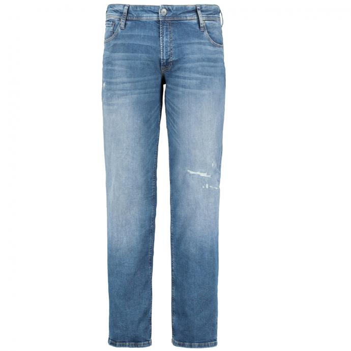 "Stretch-Jeans ""Glenn"" in Used-Optik jeansblau_BLUEDENIM   42/32"