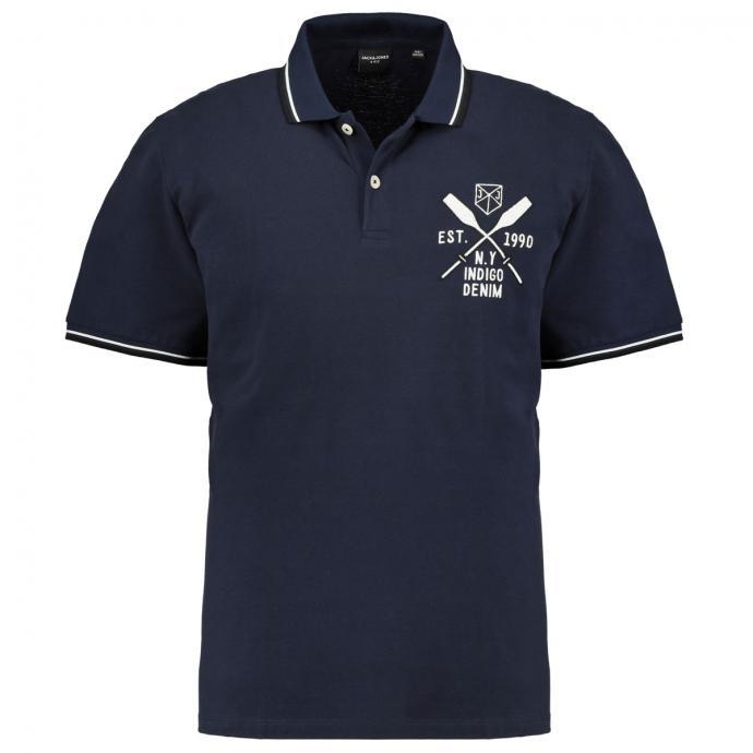 Maritimes Poloshirt blau_NAVYBLAZER | 3XL