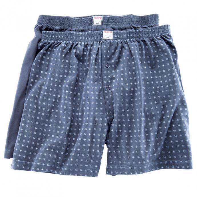 *Adamo Fashion: Doppelpack Boxershorts, 8, Jeansblau*