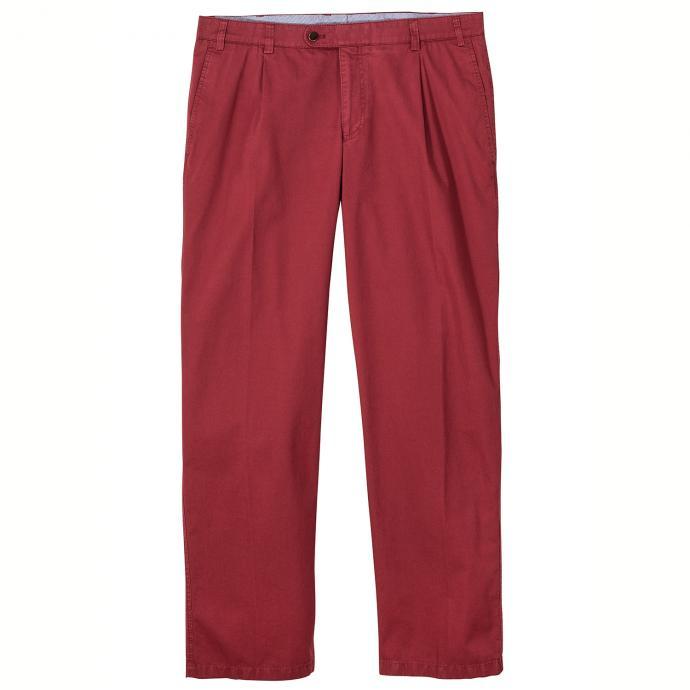 Bequeme Bundfaltenhose mit Stretch rot_45   30