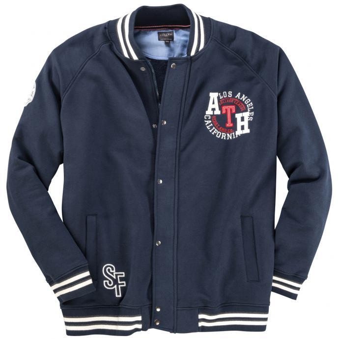 "Sportliche Jacke mit ""Los Angeles California ATH""-Stickerei kurz dunkelblau_210 | 3XL"