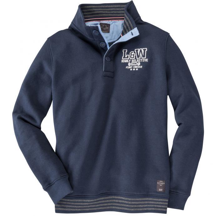 Sweatshirt mit Stehkragen dunkelblau_210 | 6XL