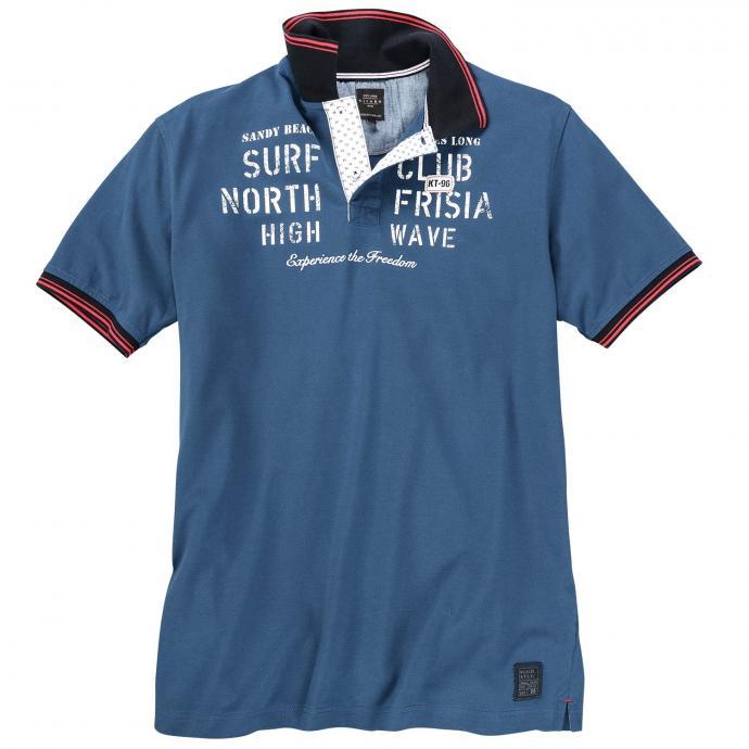 "Sportives ""Surf Club"" Poloshirt mittelblau_2251   6XL"