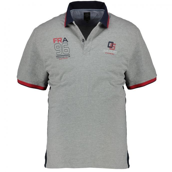 Sportives Poloshirt im maritimen Freizeit-Look, kurzarm hellgrau_5130 | 3XL
