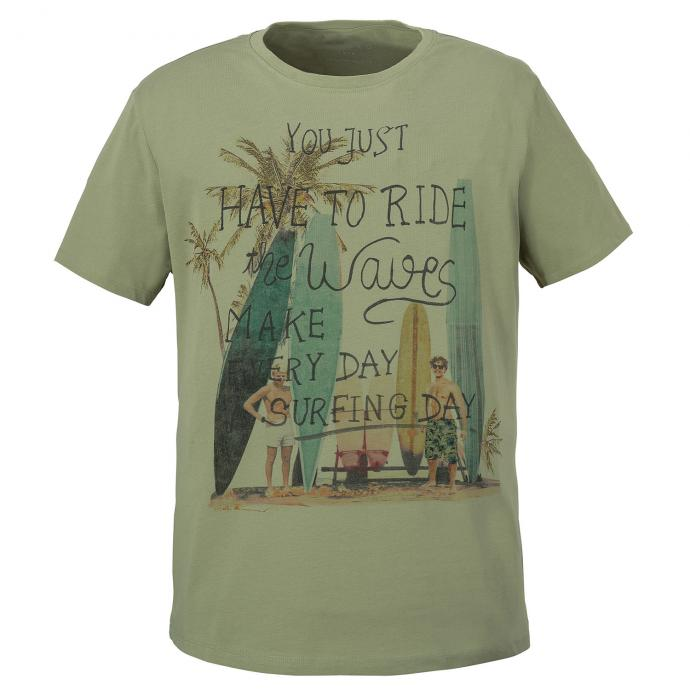 "T-Shirt mit "" You Just Have To Ride The Waves""-Print khaki_5006 