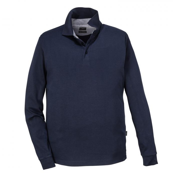 Poloshirt aus Baumwolle, langarm dunkelblau_210 | 3XL