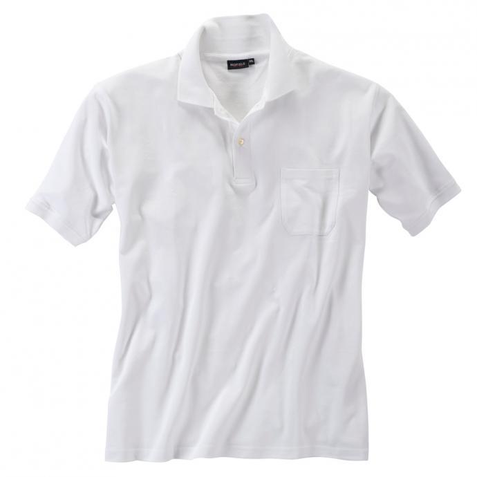 Basic Piqué-Polohemd in vielen Farben weiß_16   3XL