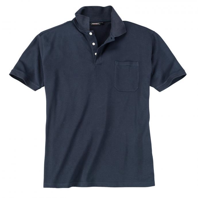 Basic Piqué-Polohemd in vielen Farben jeansblau_189 | 3XL