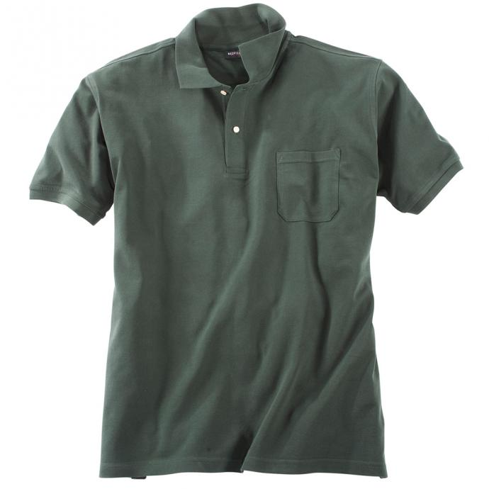 Basic Piqué-Polohemd in vielen Farben dunkelgrün_36   3XL