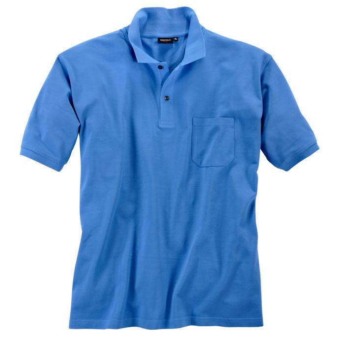 Basic Piqué-Polohemd in vielen Farben mittelblau_551 | 3XL