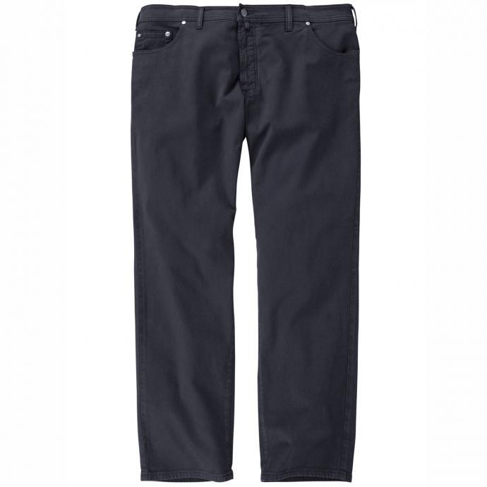 Bequeme Baumwollhose lang dunkelblau_69   64