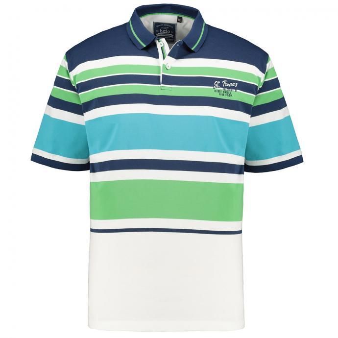 "Poloshirt mit Blockstreifen ""St. Tropez"", kurzarm blau_638 | 3XL"