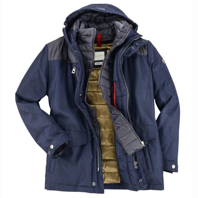 Warm gefütterte Jacke mit Kapuze dunkelblau_49 | 62
