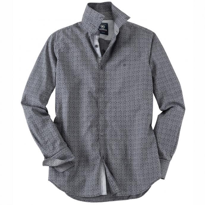 modisches Freizeithemd langarm grau_269   5XL