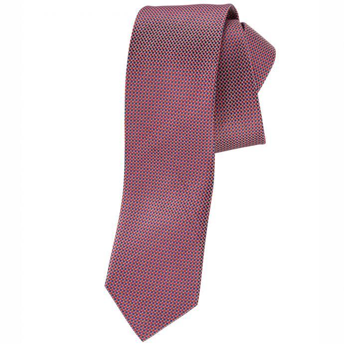 Krawatte mit mehrfarbigem Rautenmuster rot_ROT/BLAU   One Size