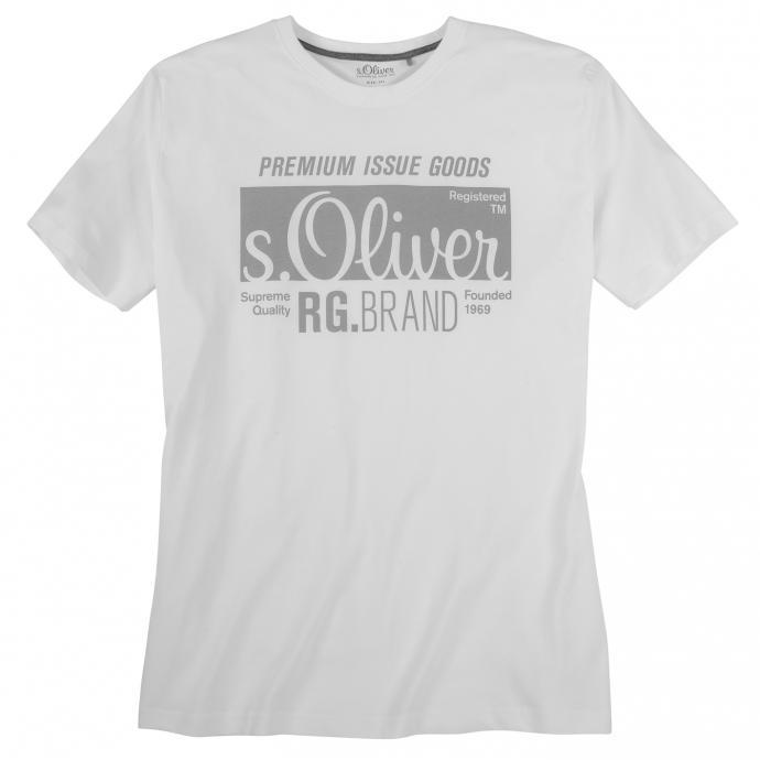 """Hochwertiges Basic T-Shirt mit """"s. Oliver""""-Print weiß_0100   3XL"""