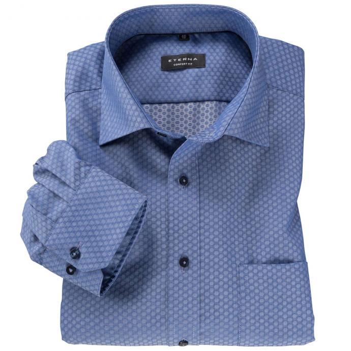 Bügelfreies Cityhemd langarm blau_18 | 46