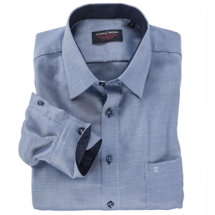 Elegantes Cityhemd mit leichtem Muster blau_103 | XXL
