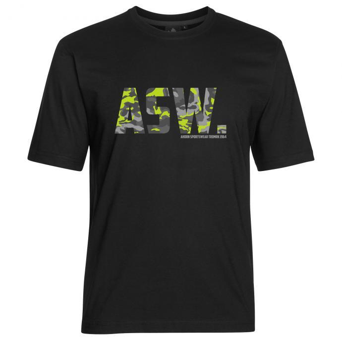 "T-Shirt ""ASW camouflage"" Frontprint schwarz_77 | 3XL"