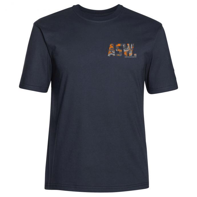 "T-Shirt mit Brustprint ""ASW camouflage"" dunkelblau_544/400 | 3XL"